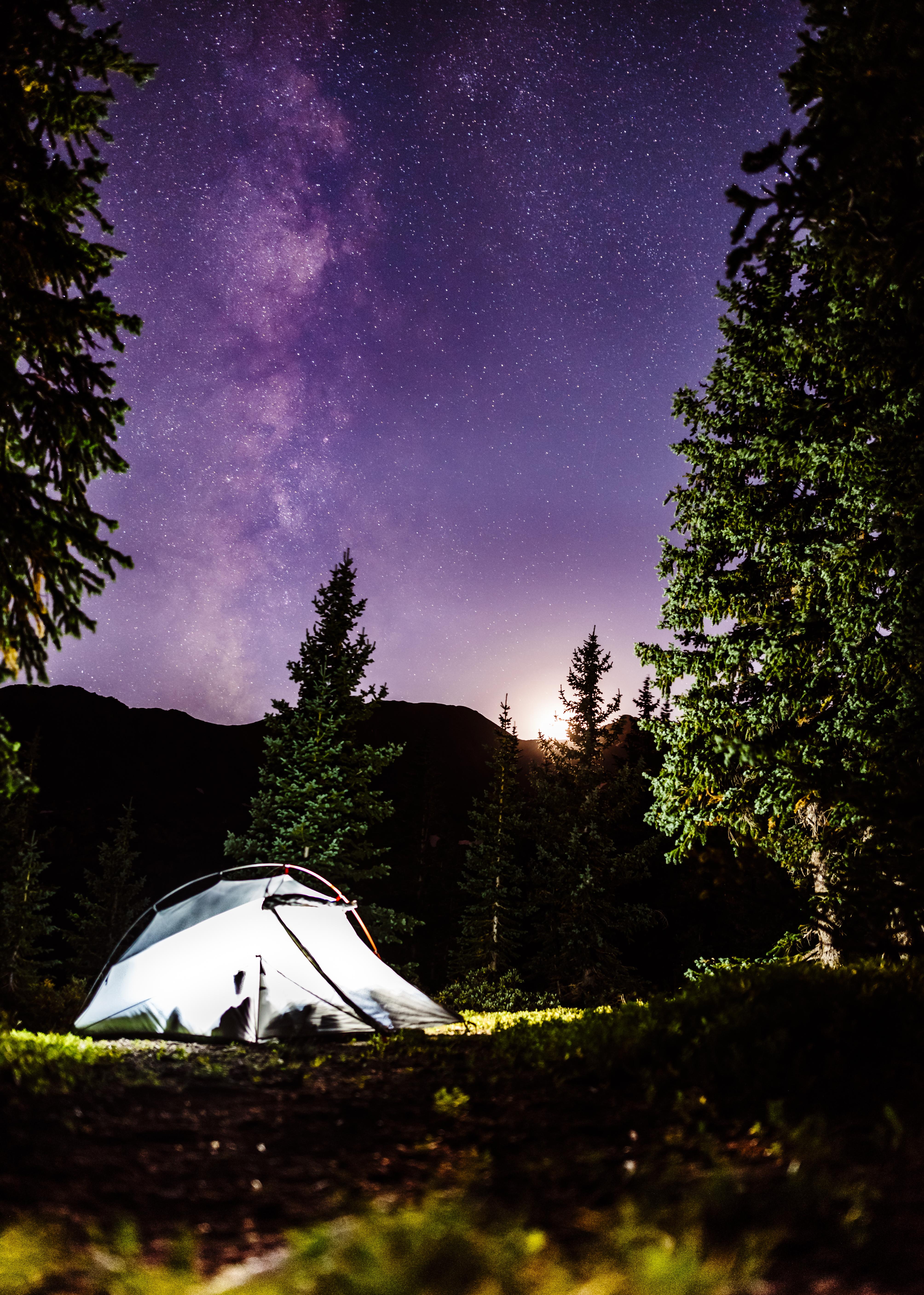 Camping up high