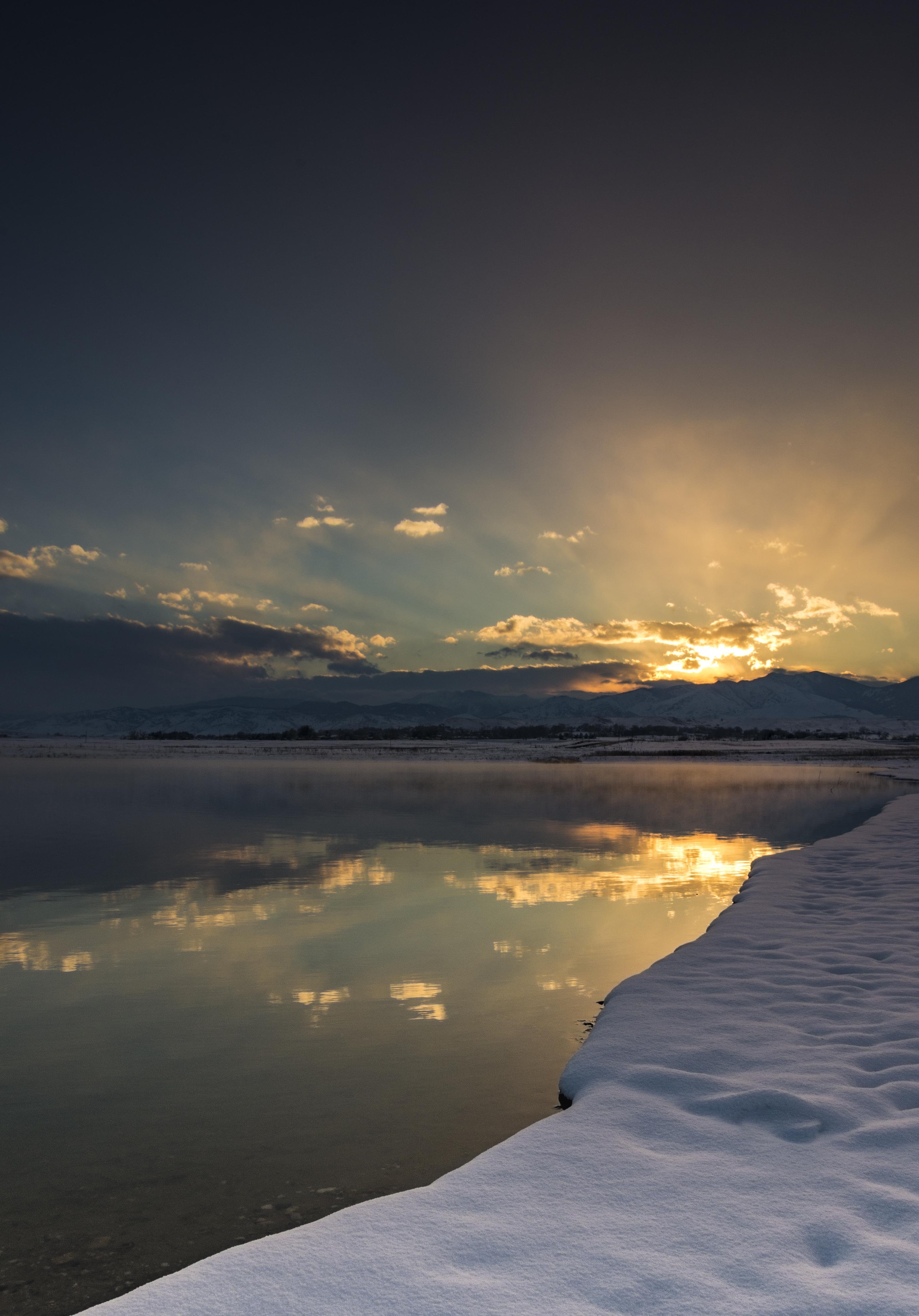 Lagerman Winter Sunset