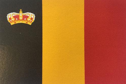 Pavillon belge avec couronne 70x100cm