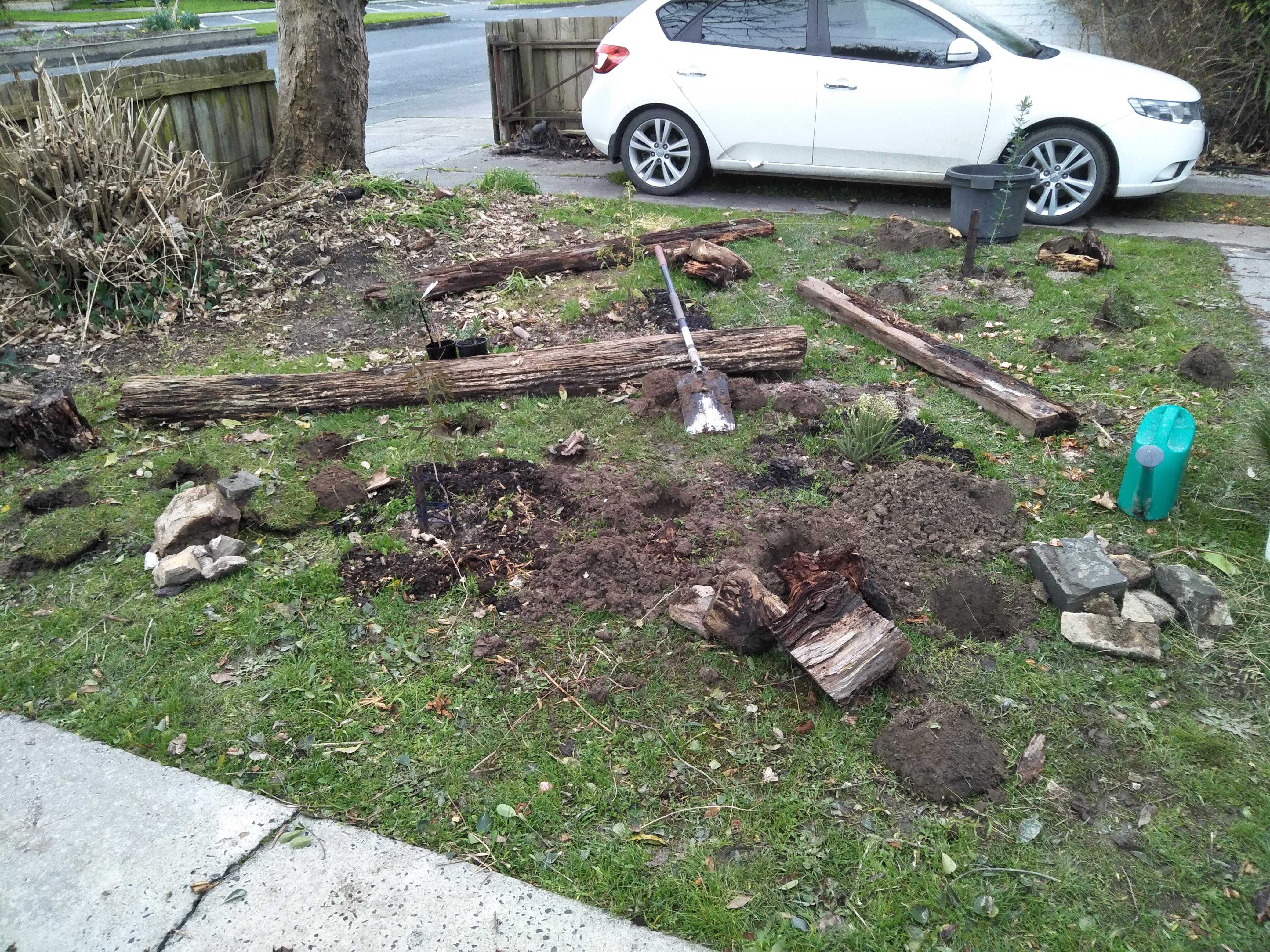 Garden front left.