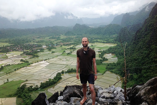 Xavier Grech (osteopath) exploring the country Laos.