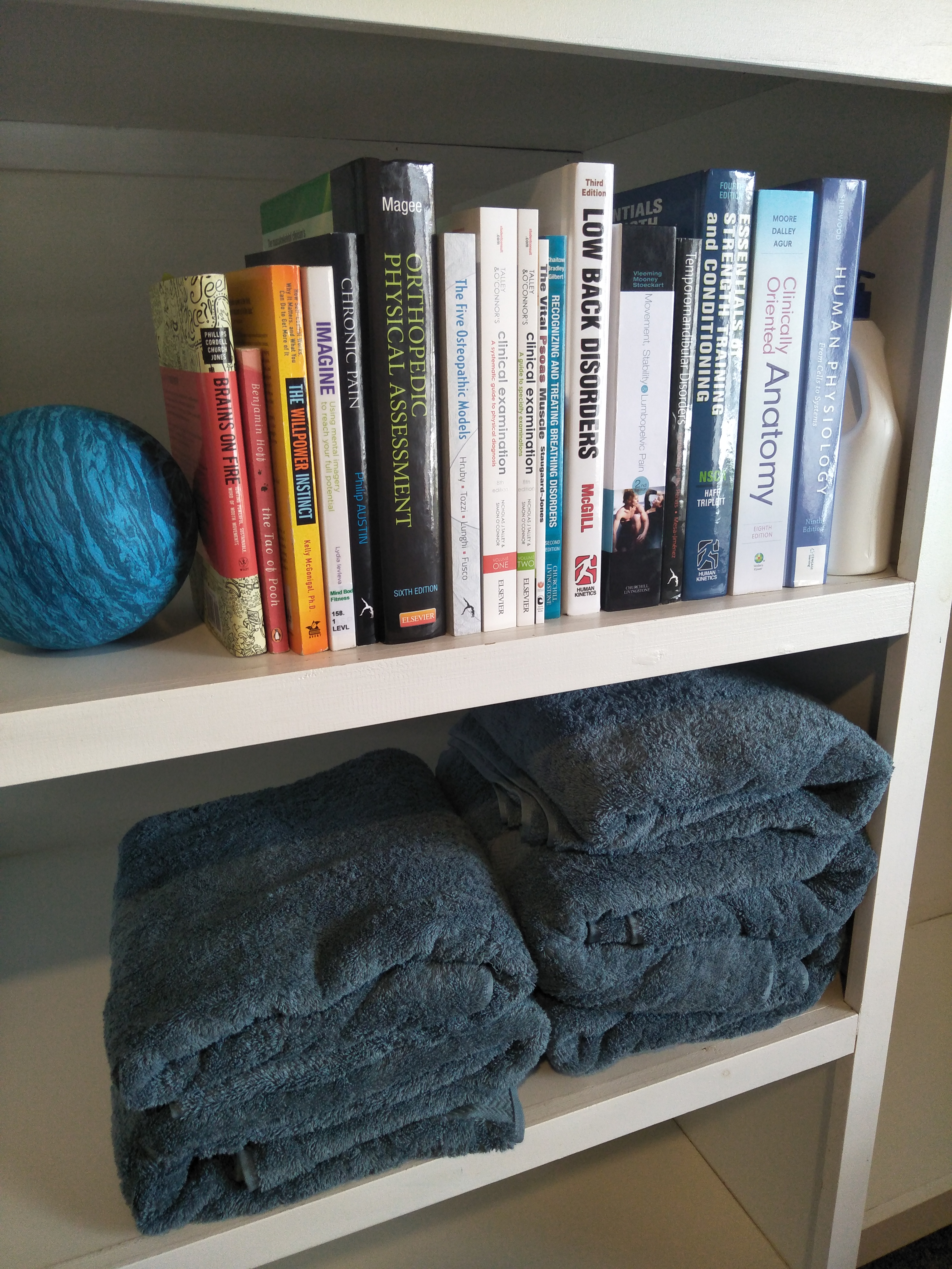 Books and towels.