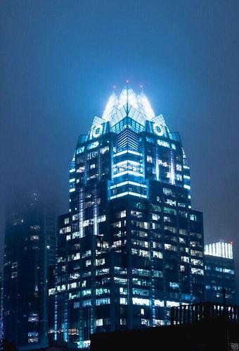 Foggy Night in Austin