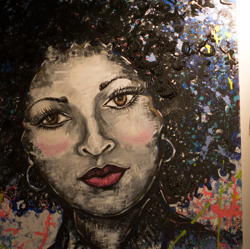 Hand Painted photo of Foxy Brown