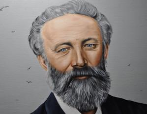 Modèle = Inspiré de deux photographies connues de Jules Verne, 1878 et de 1909.