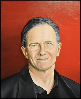 Portrait à l'huile de Francis Huster par Catt Landa