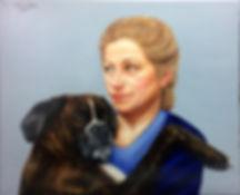 portrait,portrait sur commande, portrait à l'huile, portrait de chien, portait artiste, commande de portrait