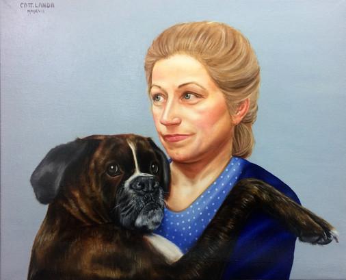 Portrait du Dr Landeau et Hermine