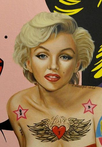 Portrait de Marilyn Monroe par Catt Landa