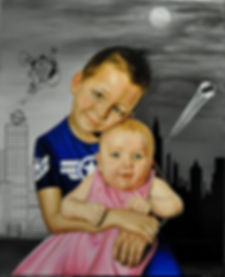 portrait enfant, portrait sur commande, portrait enfant huile, portrait huile sur commande, child portait, child oil portait, child commission portrait
