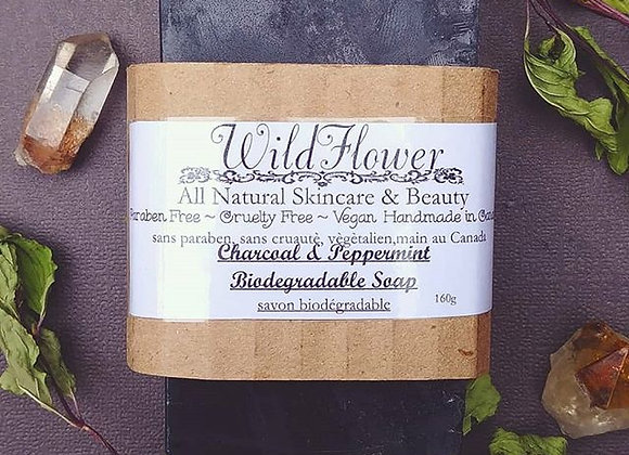 Charcoal & Peppermint Biodegradable Soap