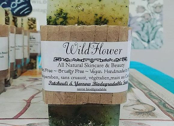 Patchouli & Yarrow Biodegradable Soap