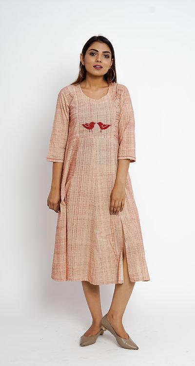 HunarWE Peach Bird Dress