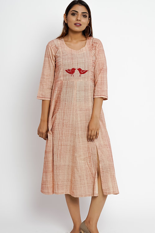 HunarWE Peach Bird Dress