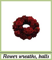 Couronnes de fleurs artificielles