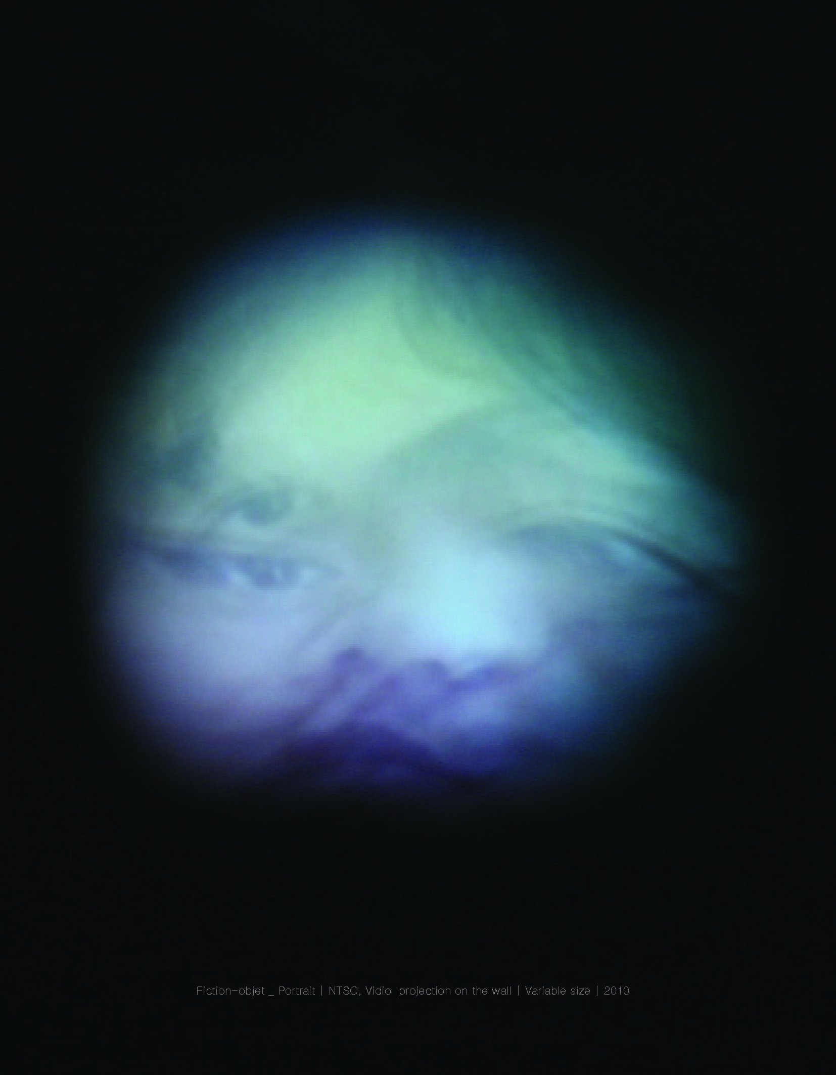 Fiction-objet _ Portrait  NTSC, Vidio projection on the wall_Variable size_2010