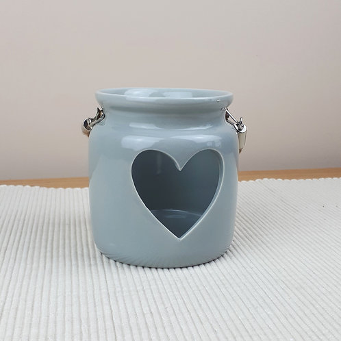 Grey Porcelain Tealight Holder