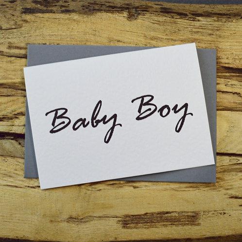 Baby Boy Note Card