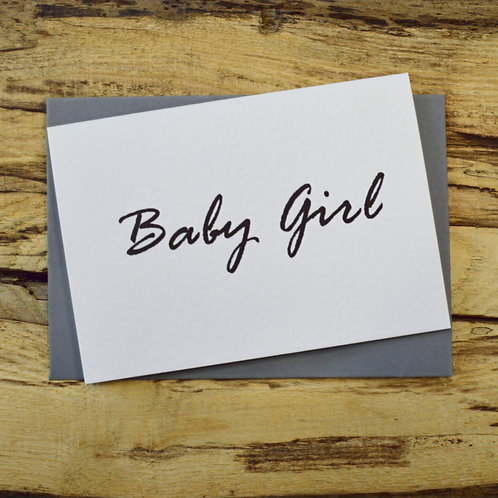 Baby Girl Note Card