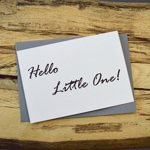 Hello Little One Note Card
