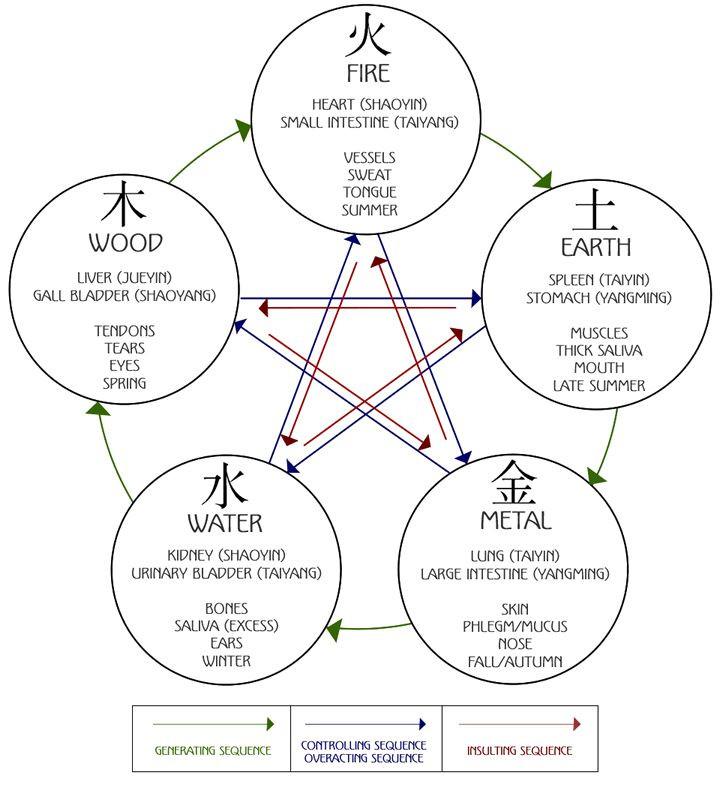 5 elements diagagram