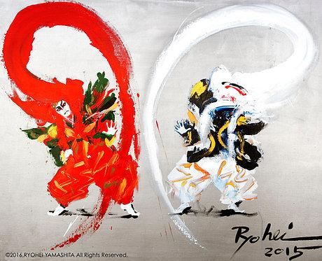 オリジナル原画【Renjishi(連獅子)】