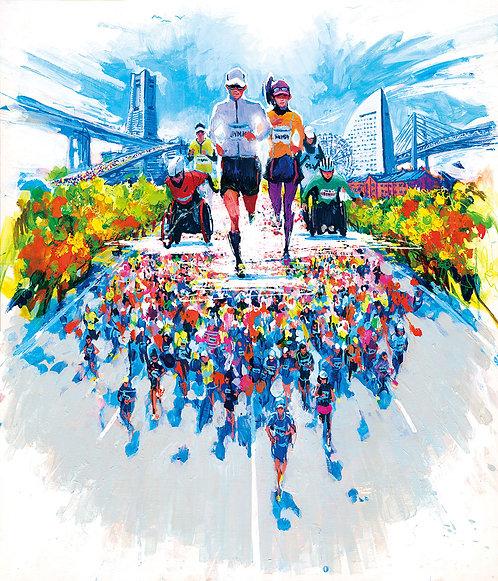 オリジナル原画【Marathon 5(横浜マラソン2018公式ビジュアル)】