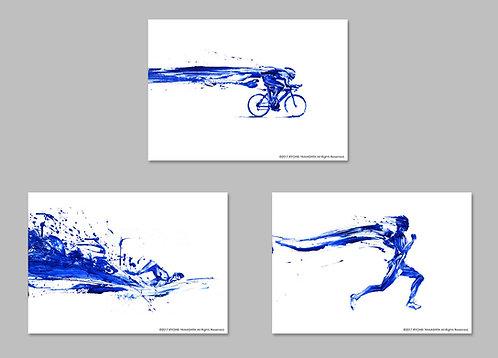 オリジナル原画【Triathlete set】(3点セット)