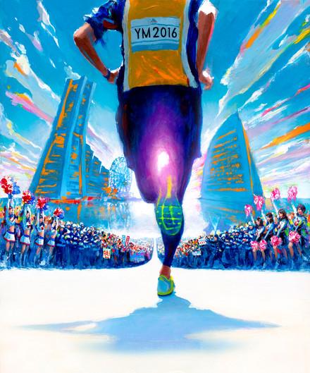 横浜マラソン2016大会告知ビジュアル