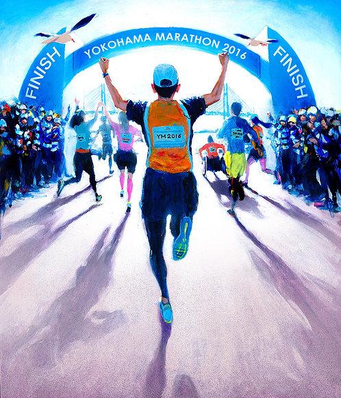 オリジナル原画【Marathon 4(横浜マラソン2016公式ビジュアル)】