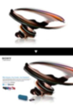 sony ワイヤレススピーカー広告