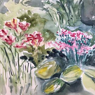Summer Blooms, artist Nancy DuVergne Smith