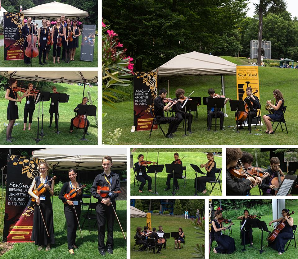 Des petits ensembles provenant des orchestres de Sherbrooke, West Island et Westmount au Festival de Lanaudière en juillet 2015