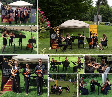 Collage de petits ensembles de l'OSJS, OSJWI, OJMR au Festival de Lanaudière