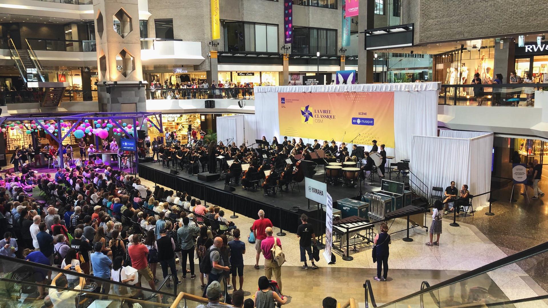 L'orchestre des jeunes du mont-Royal lors de la virée classique en 2019