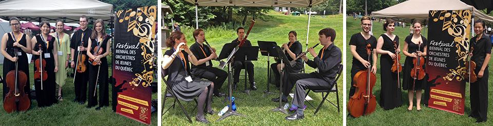 Des petits ensembles provenant des orchestres de Westmount, West Island et Montréal au Festival de Lanaudière en juillet et août 2014