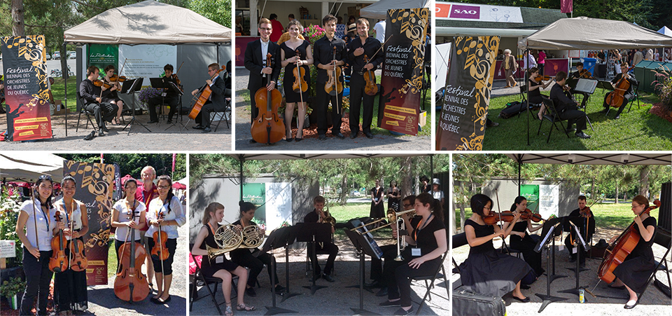 Des petits ensembles provenant des orchestres de Westmount, West Island et Montréal au Festival de Lanaudière en juillet et août 2013