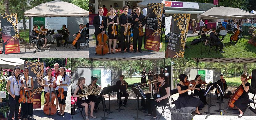 Petits ensembles des orchestres OJW, OSJWI et OSJM au Festival de Lanaudière