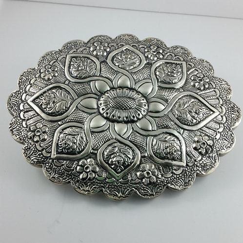 Vintage Silver Turquish Wedding Repousse Mirror
