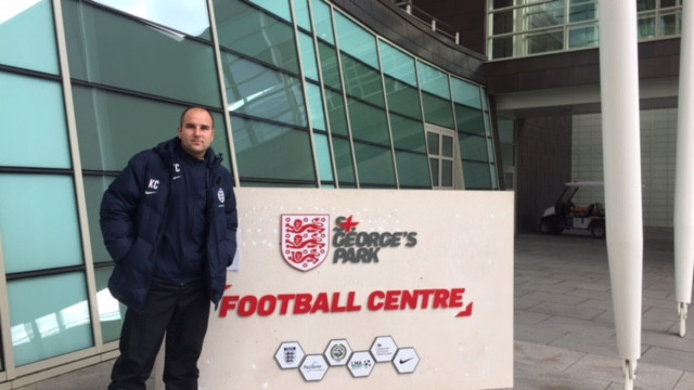 St George's Park England National Football Centre. Free Range Kids Football coach was in Developing Defenders Cours. Updated his knowledge.