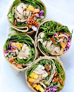Rainbow-Veggie-Chicken-Wrap-foodiecrush.