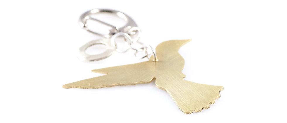 Brelok ze złotym kolibrem
