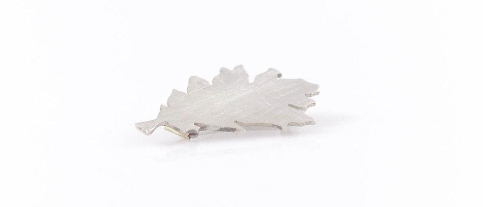 Broszka srebrny liść dębu (mała)