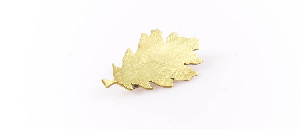 Broszka złoty liść dębu (mała)