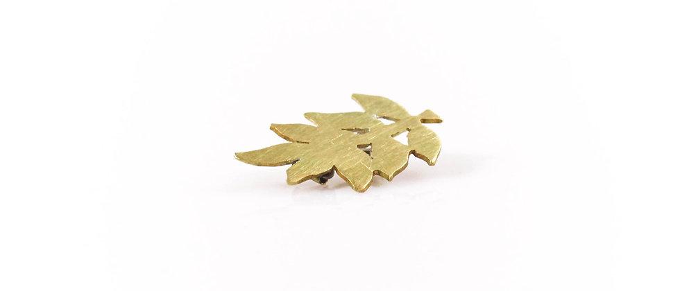 Broszka złoty liść jesionu (mała)