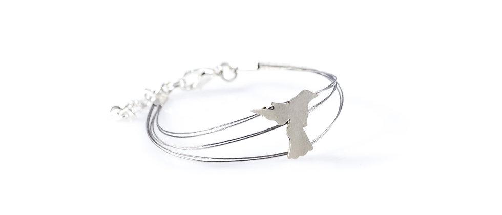 Bransoletka srebrny koliber