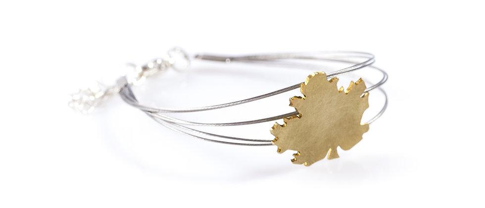 Bransoletka złoty liść klonu