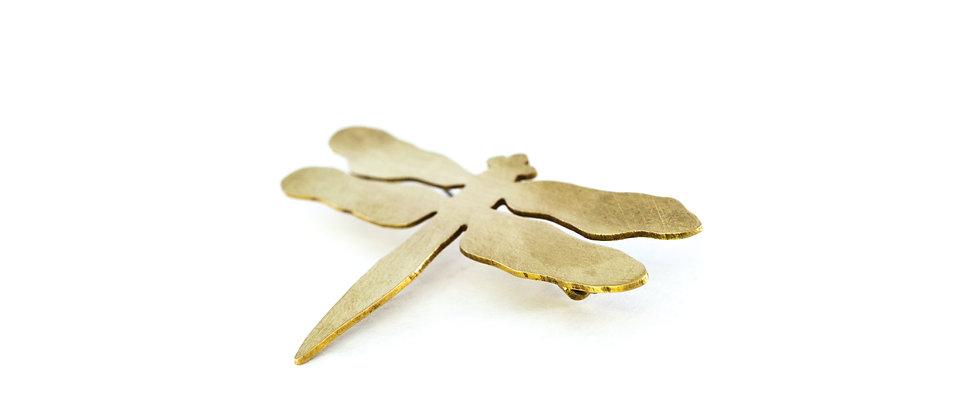 Broszka złota ważka