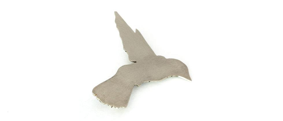 Broszka srebrny koliber