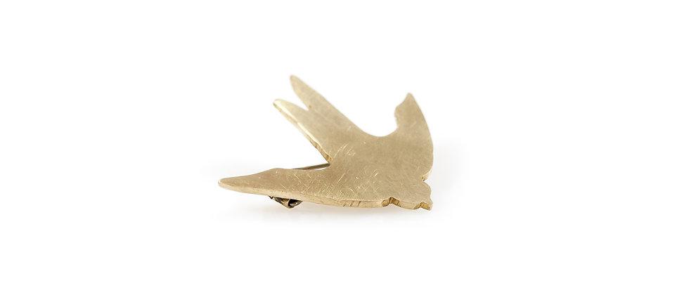 Broszka złota jaskółka (mała)